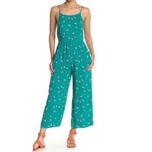 Mimi Chica Floral Print Wide Leg Jumpsuit